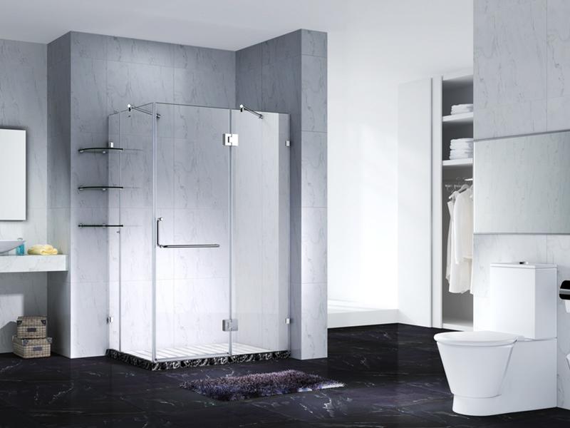 Slimline Frameless Rectangle shower enclosure with pivot door,CY1242-1